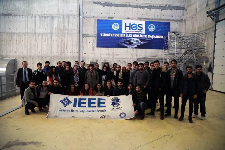 Sakarya Üniversitesi IEEE Öğrenci Topluluğundan SASKİ'ye Teknik Gezi