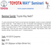 Toyota - Toyota Way Semineri