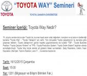 Toyota - Toyota Way Semineri
